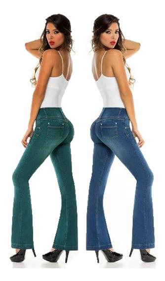 Jeans Calse Perfecto Levanta Cola X 2 Unidades Tiro Alto