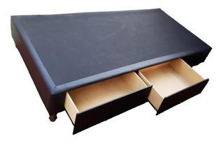 Box Sommier 1 Plaza Y 1/2 1,00x1,90 C/ 2 Cajones.