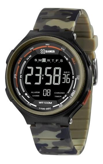 Relógio Pulso X Games Digital Camuflado Verde - Xmppd572