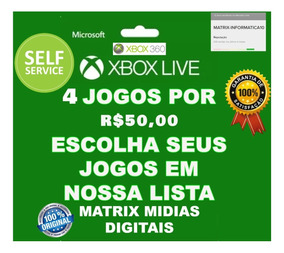 4 Jogos Xbox 360 Original-mídia Digital