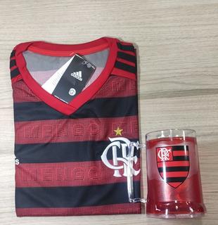 Camisa Flamengo + Caneca De Gel