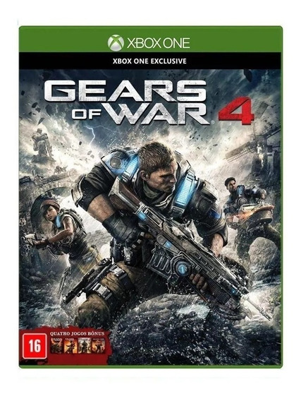 Jogo Gears Of War 4 Xbox One Lacrado Mídia Física Novo