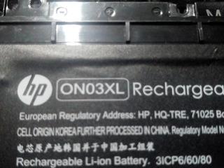 Bateria Hp On03xl Usada