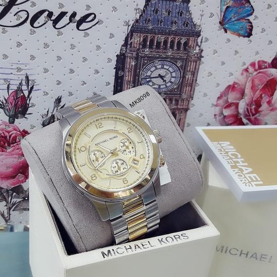 Relógio Feminino Mk8098 Dourado 100 Serie 18k - Michael Kors