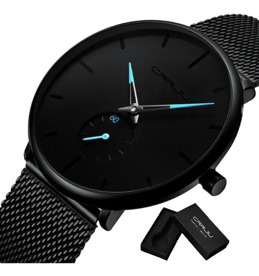 Relógio Masculino Luxo Crrju Casual Original Pronta Entrega