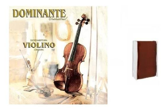 Kit Cordas Violino Dominante Orchestral + Breu Smart Smbr