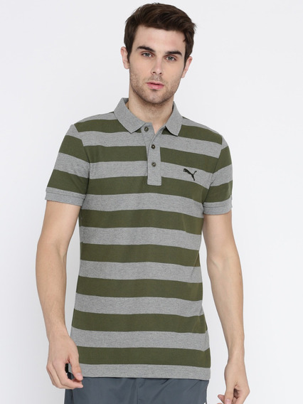 Puma Ess Striped Pique Polo