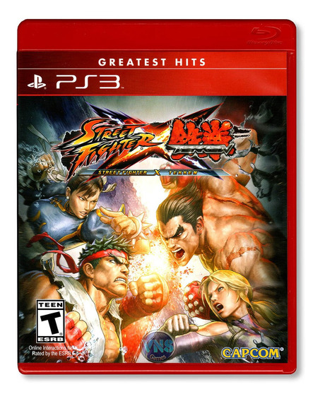 Street Fighter X Tekken - Ps3 - Mídia Física - Lacrado