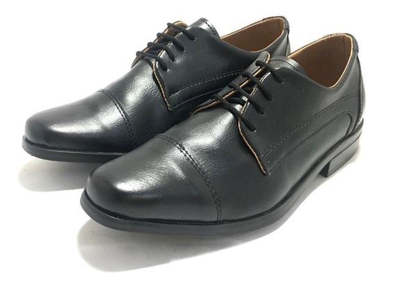 Zapatos De Vestir Para Niños Simil Cuero (12/1231)