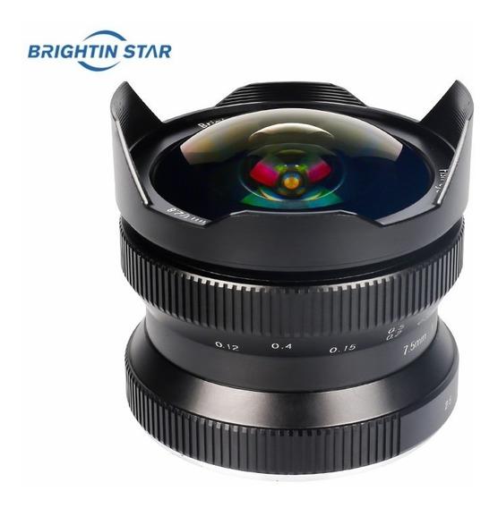 Lente Fisheye Olho De Peixe Brightin Star 7.5mm F2.8 Ii Para Canon Eos-m Mount M1, M2, M3, M5, M6, M10, M50, M100