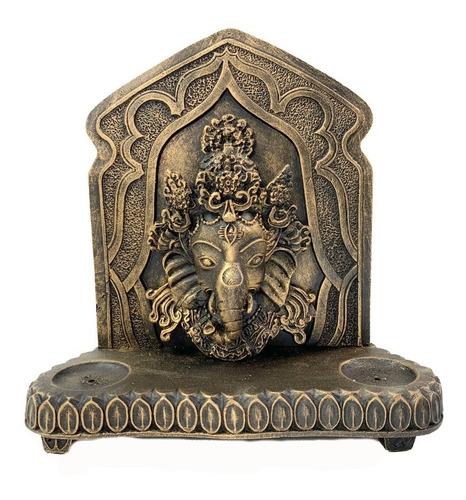 Aparador C/ Painel C/ Face De Ganesha Porta Vela E Incenso