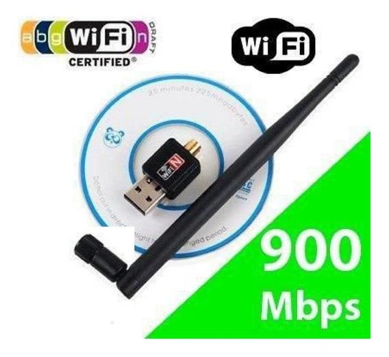 1 Antena Adaptador Wireless Usb Wifi Pc Notebook 900mbps
