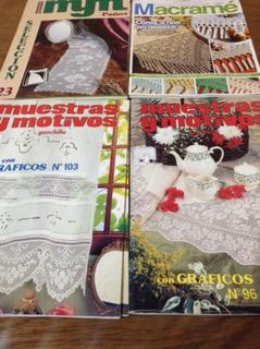 4 Revistas Tejidos Ganchillo Crochet Muestras Y Motivos Pale