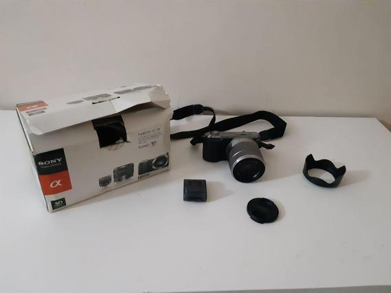 Câmera Sony Semi Profissional Nex-c3k 16.2 Mpx