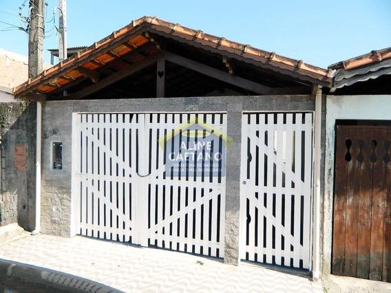 Casa Com 2 Dorms, Quietude, Praia Grande - R$ 240 Mil - Vac034221