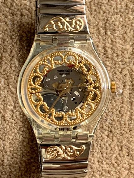 Relogio Swatch Gk138, Sem Uso, Na Caixa Com Manual