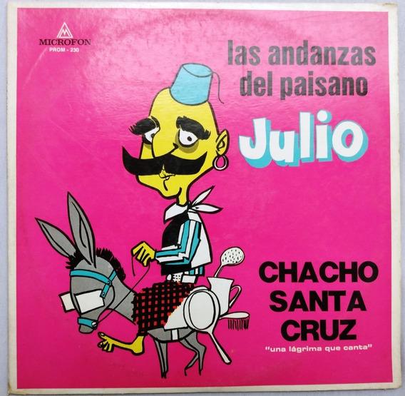 Chacho Santa Cruz - Paisano Julio - Disco Vinilo Humor Judío