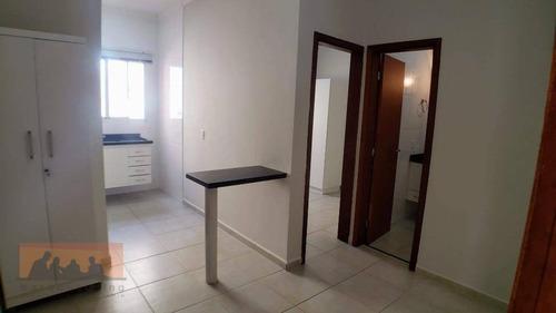 Kitnet Com 1 Dormitório Para Alugar, 26 M² Por R$ 1.350,00/mês - Cidade Universitária - Campinas/sp - Kn0117