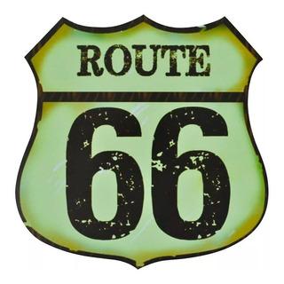 Quadro Decorativo Retro-vintage - Coisas De Boteco Route 66