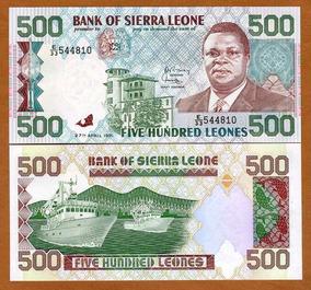 Serra Leoa 500 Leones 1991 P. 19 Fe Cédula - Tchequito