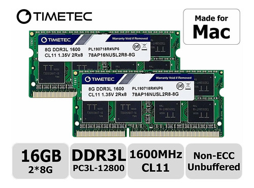 Memoria Ram 16gb (2x8gb) Para Mac Ver Imagenes Para Compat.