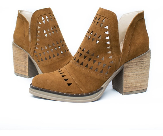 Botas Mujer Zapatos Texanas Dama Caladas Moda Media Estacion 61