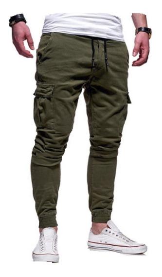 Pantalon Jogger Cargo Gabardina Hard Work High Resistance