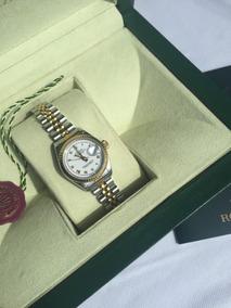 Reloj Rolex Datejust Automático Acero, Oro De Mujer.original