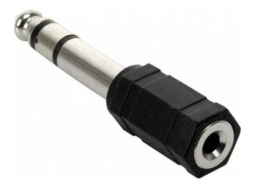 Imagen 1 de 1 de Adaptador Plug 6.5 Mm A Mini 3.5 Mm Auricular Mic Stereo