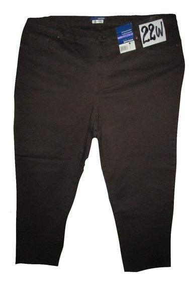 Pantalon Jeans Cafe Talla 22w Medium (42) Basic Edition