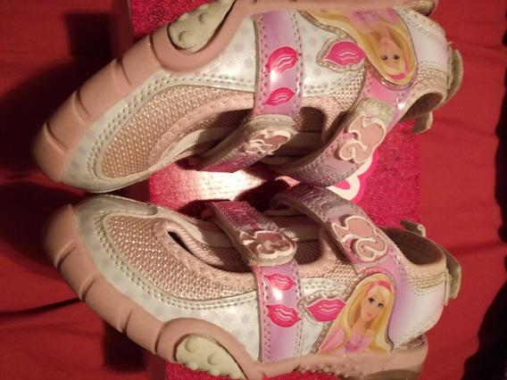 Zapatillas, Sandalias Barbie 32 Con.luz!!!