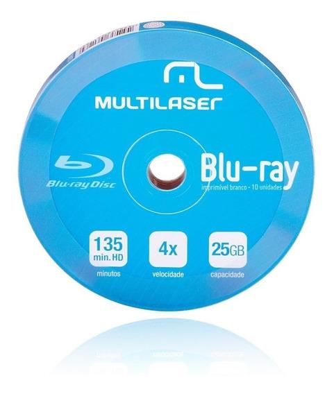 Blu-ray Multilaser Bd-r 25gb Printable C/10