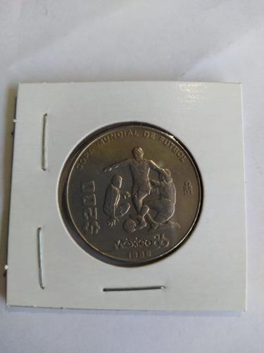 Imagen 1 de 3 de Moneda 200 Pesos Conmemorativa Mundial 86