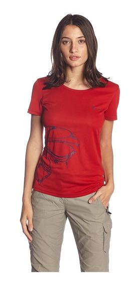 Remera Cooldry Amadea T-shirt Ls Red Dama Northland