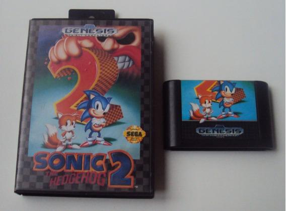 Sonic 2 Original Genesis Com Caixa E Encarte
