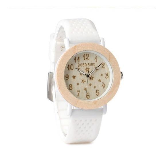 Relógio De Madeira Feminino