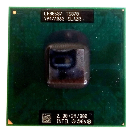 Processador Intel Core2duo T5870 2.0/2m/800 Funcionando