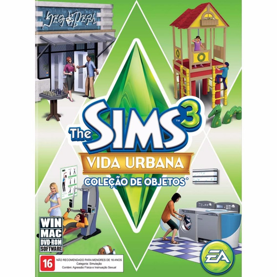The Sims 3 - Vida Urbana - Coleção De Objetos - Lacrado