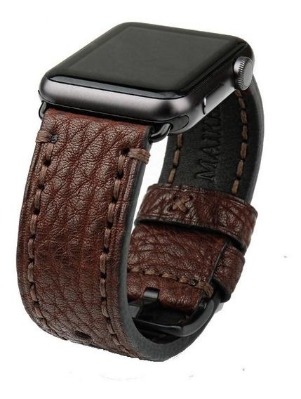 Pulseira Apple Watch Couro Estilo Panerai 42mm + Case
