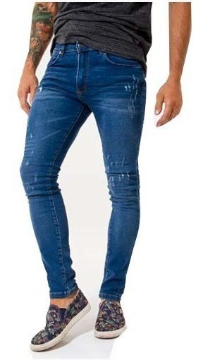 Pantalón Azul Desgastado Slim Fit .seventy