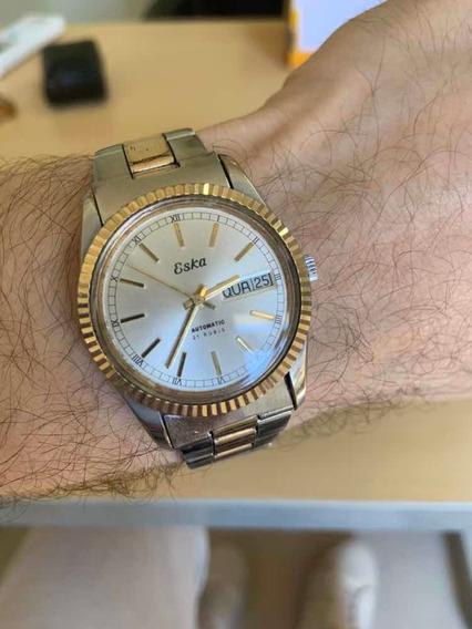 Lindo Relógio Eska Automático Presidente Day Date Ñ Rolex