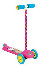 Patinete Feminino Infantil Fun Barbie Fabuloso Rosa Skatenet