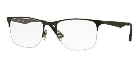 Gafas Graduadas Ray-ban Para Hombre Rx6362 Shiny Black 55mm