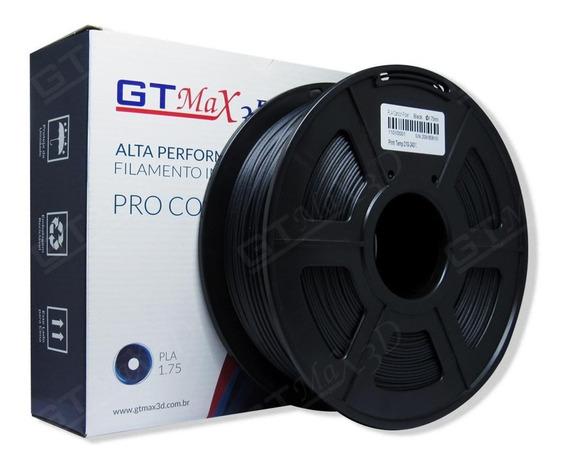 Filamento Pla De Fibra De Carbono - Gtmax 3d - 1.75mm - 1kg