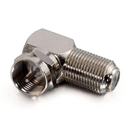 Cables To Go 40669 Adaptador Ángulo Recto Tipo F Plateado 10