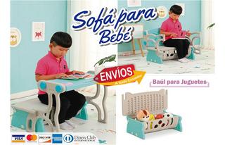 Mesa Silla Y Baúl Para Bebé O Niño - 3 En 1