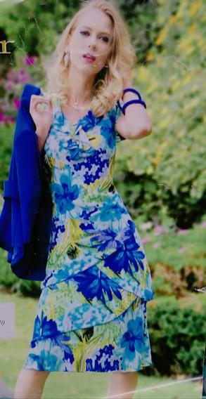 Ropa Mujer Vestido Casual Azul Primavera 38/xl