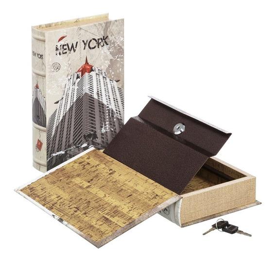 Caja De Seguridad En Forma De Libro Con 2 Llaves New York