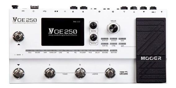 Pedaleira Multi-efeitos Para Guitarra Ge250 Mooer + Nfe