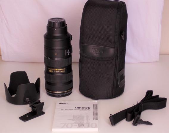 Nikon Af-s 70-200 F2.8g Ed Vr Ii (impecável) + Filtro Hoya